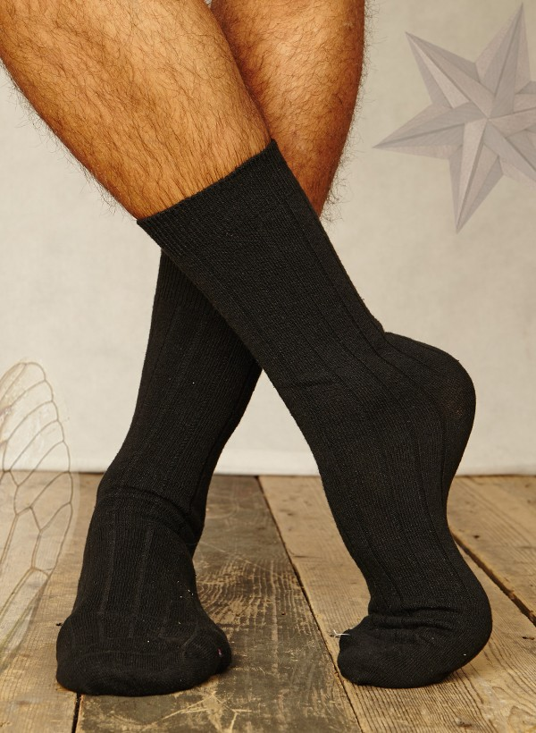 Mens hemp socks (black)