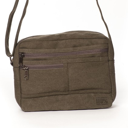 Multipocket Cross Body Bag (khaki)