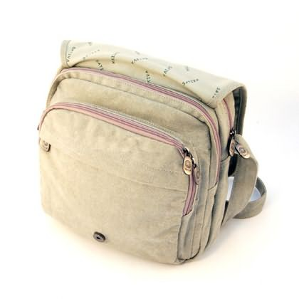 City Shoulder Hemp Bag (ice)