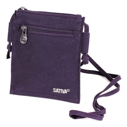 Hemp Shoulder Wallet (plum)