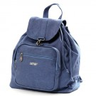 Clinch Closure Hemp Rucksack (steel blue)