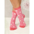 Ladies bamboo socks Flower (pink)