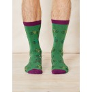 Bamboo socks Mike Bike (green)
