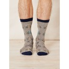 Bamboo socks Mike Bike (light grey)