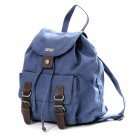 Buckle Front Hemp Rucksack (steel blue)